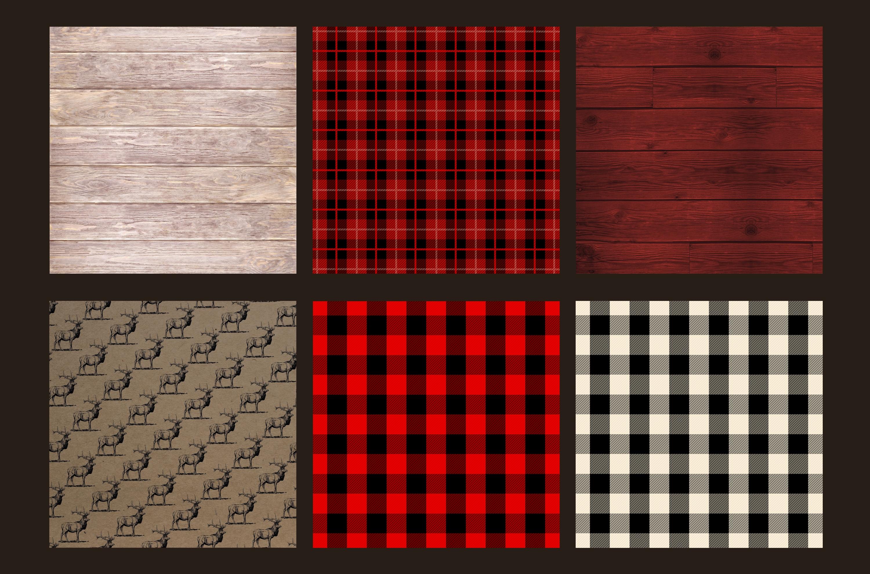 Lumberjack digital paper example image 4
