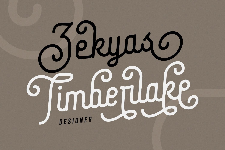 Coklat Sunda - The Monoline Font example image 5