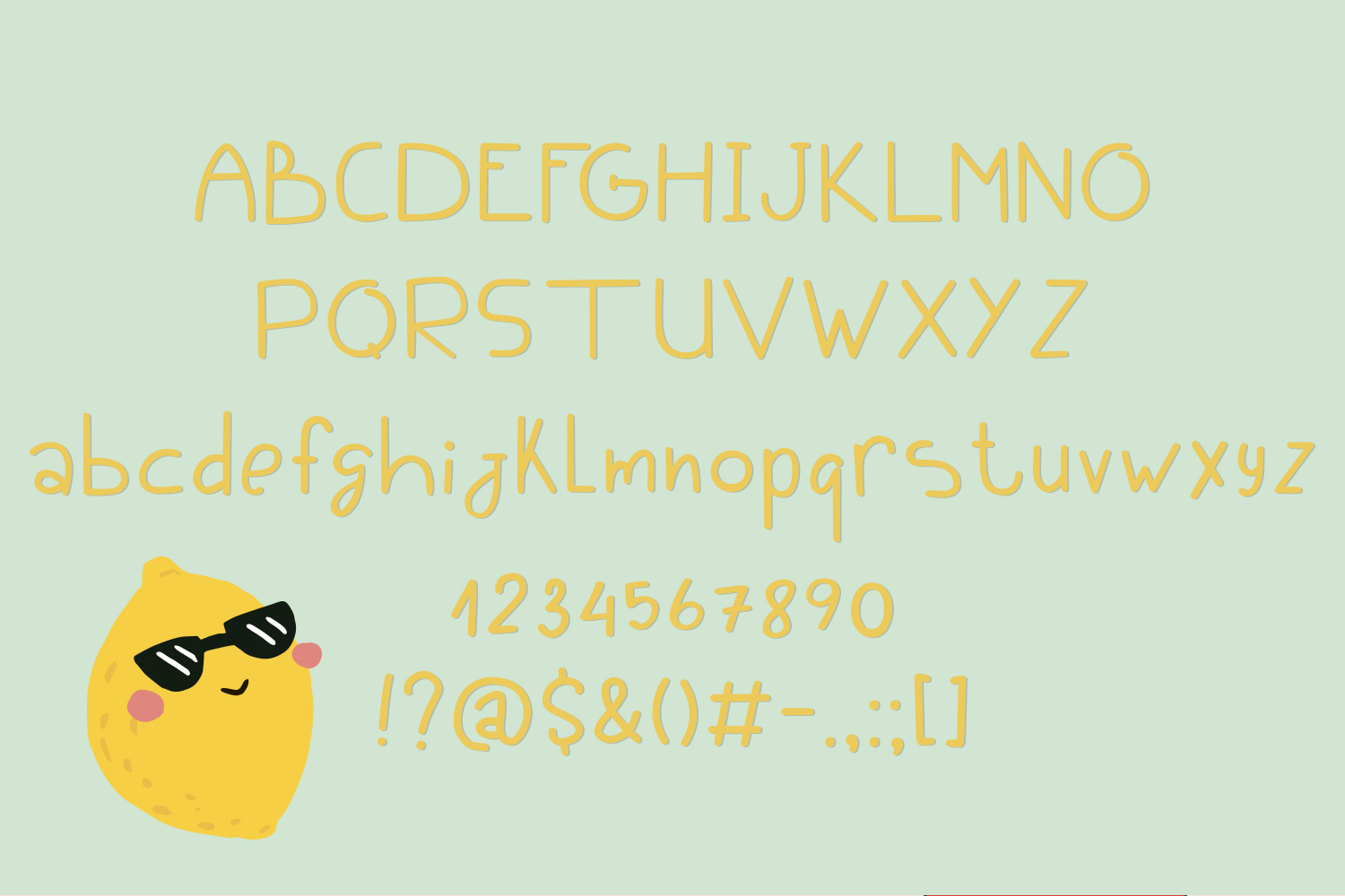 Limoncello funny font example image 2