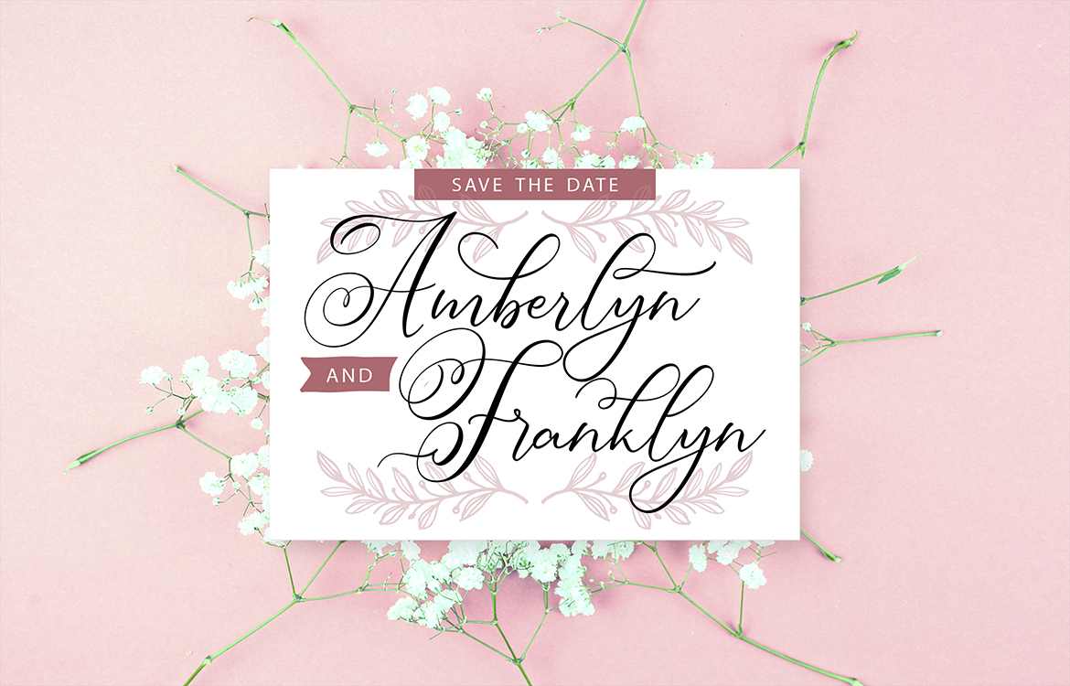 Simply Harmony | ASimply Stylistic Modern Calligraphy Script example image 4