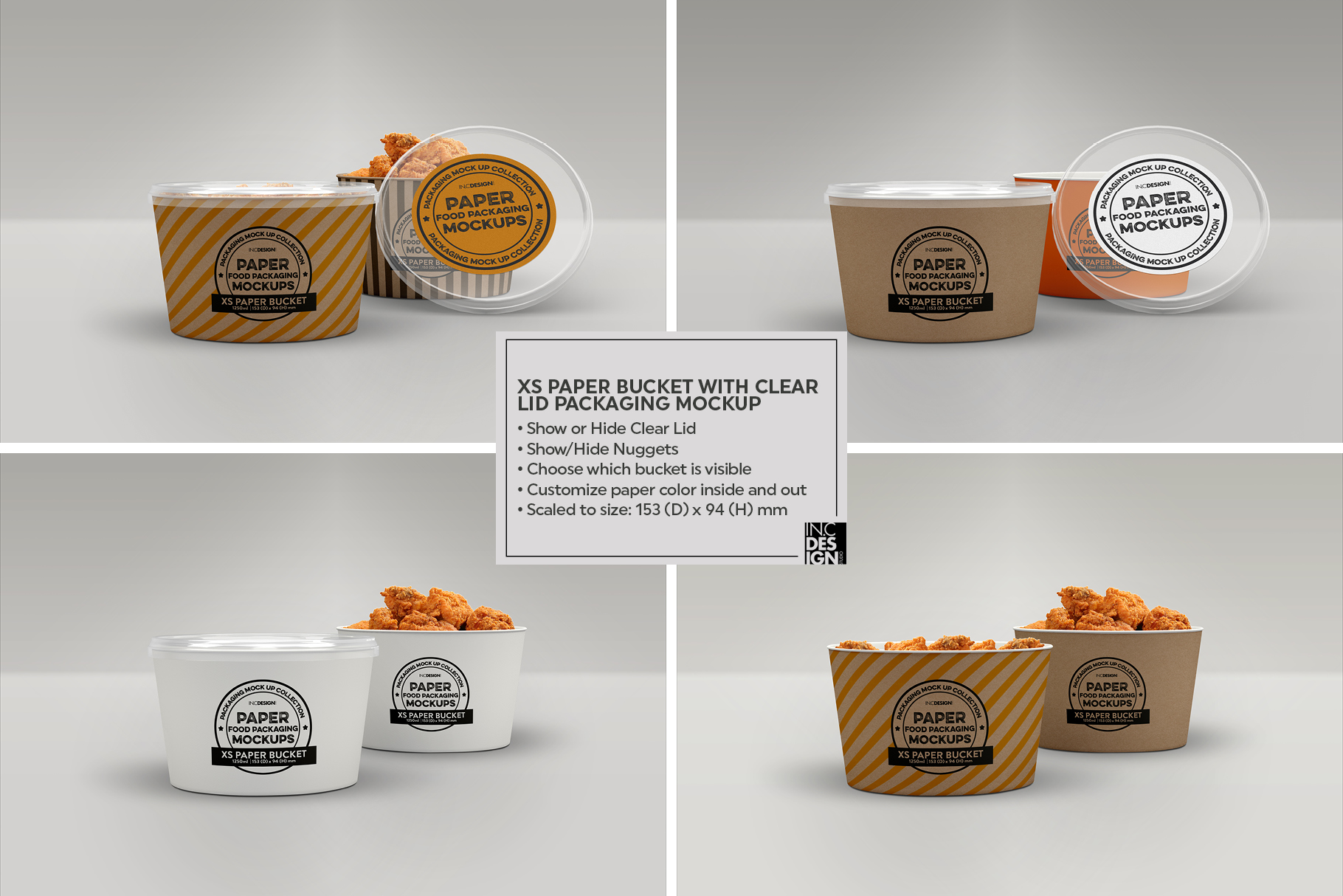 VOL.12 Food Box Packaging MockUps example image 19