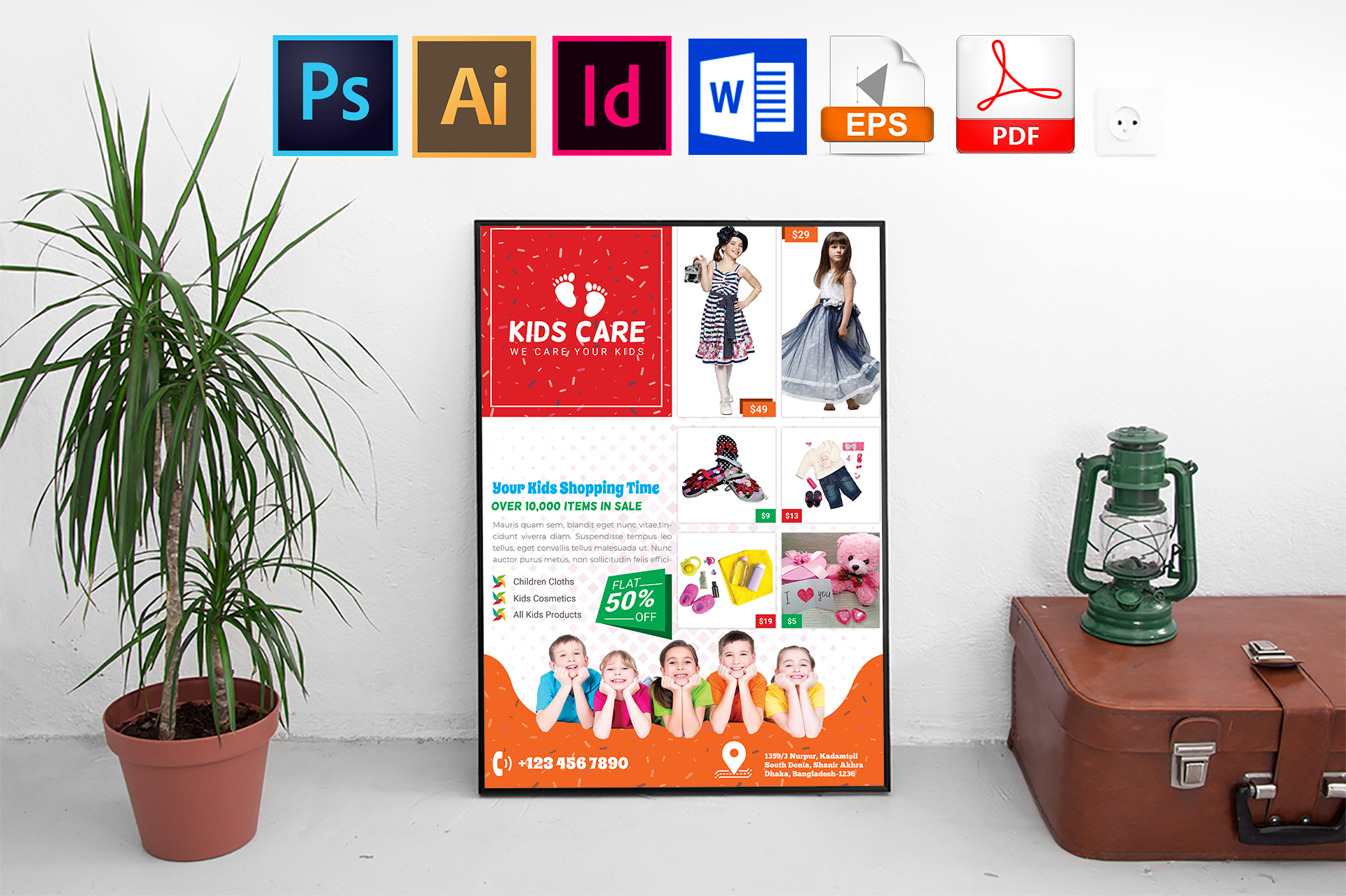 Poster | Kids Fashion Shop Vol-03 example image 1