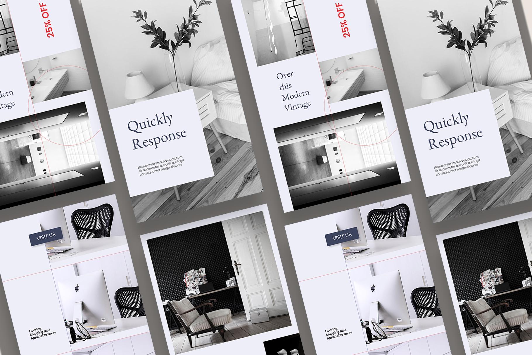 Interior Instagram Templates example image 6