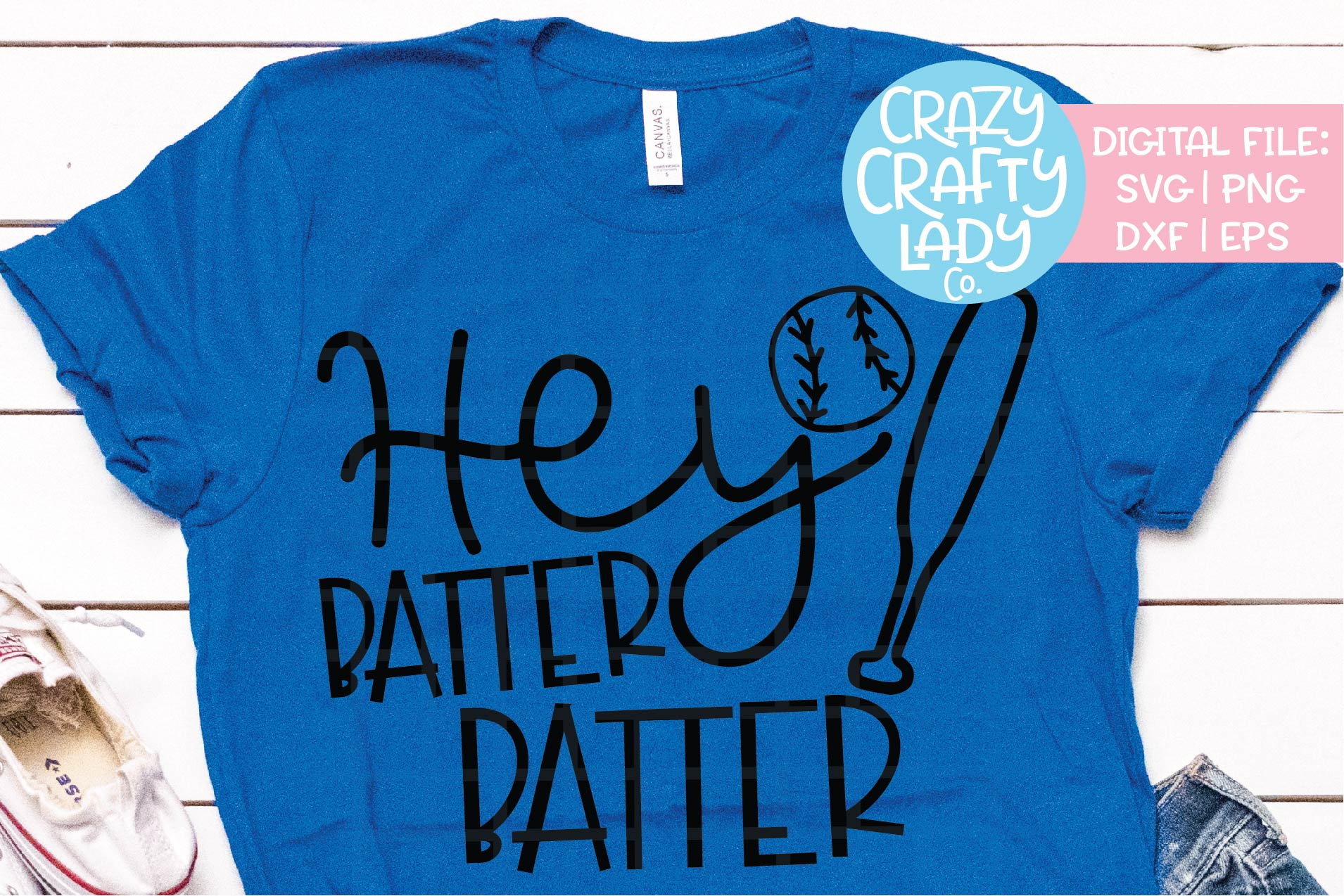Hey Batter Batter Baseball SVG DXF EPS PNG Cut File example image 1