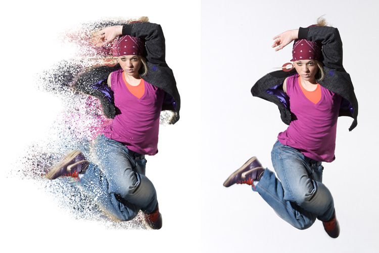 Splatter Dispersion Photoshop Action example image 6