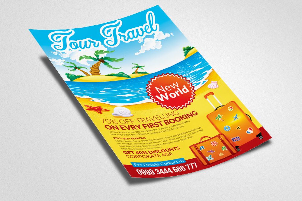Tour Travel Agency Flyer Template example image 3