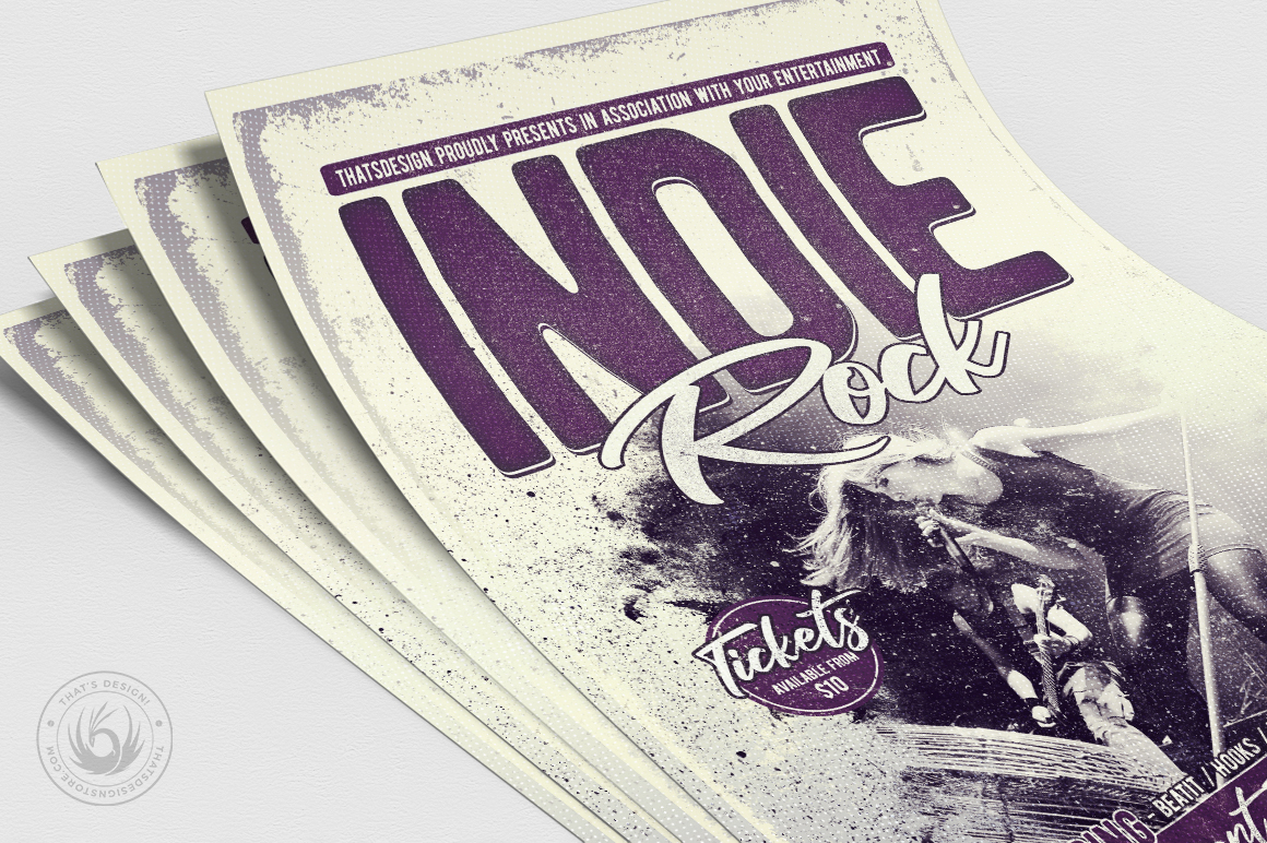 Indie Rock Flyer Template V3 example image 5