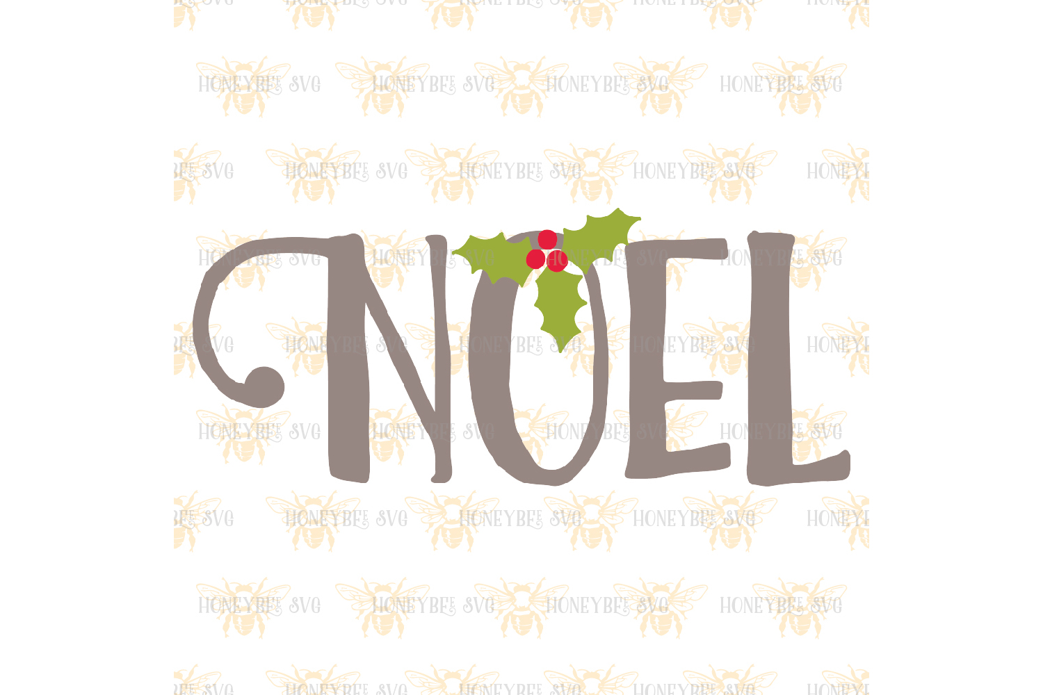 Christmas Word Bundle cut files svg example image 5