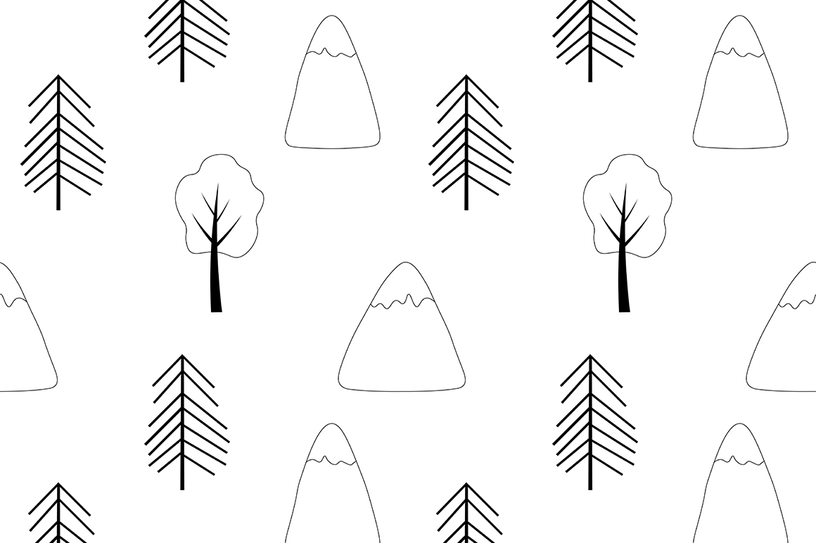 Set of illustrations Animals forest graphics vector example image 5