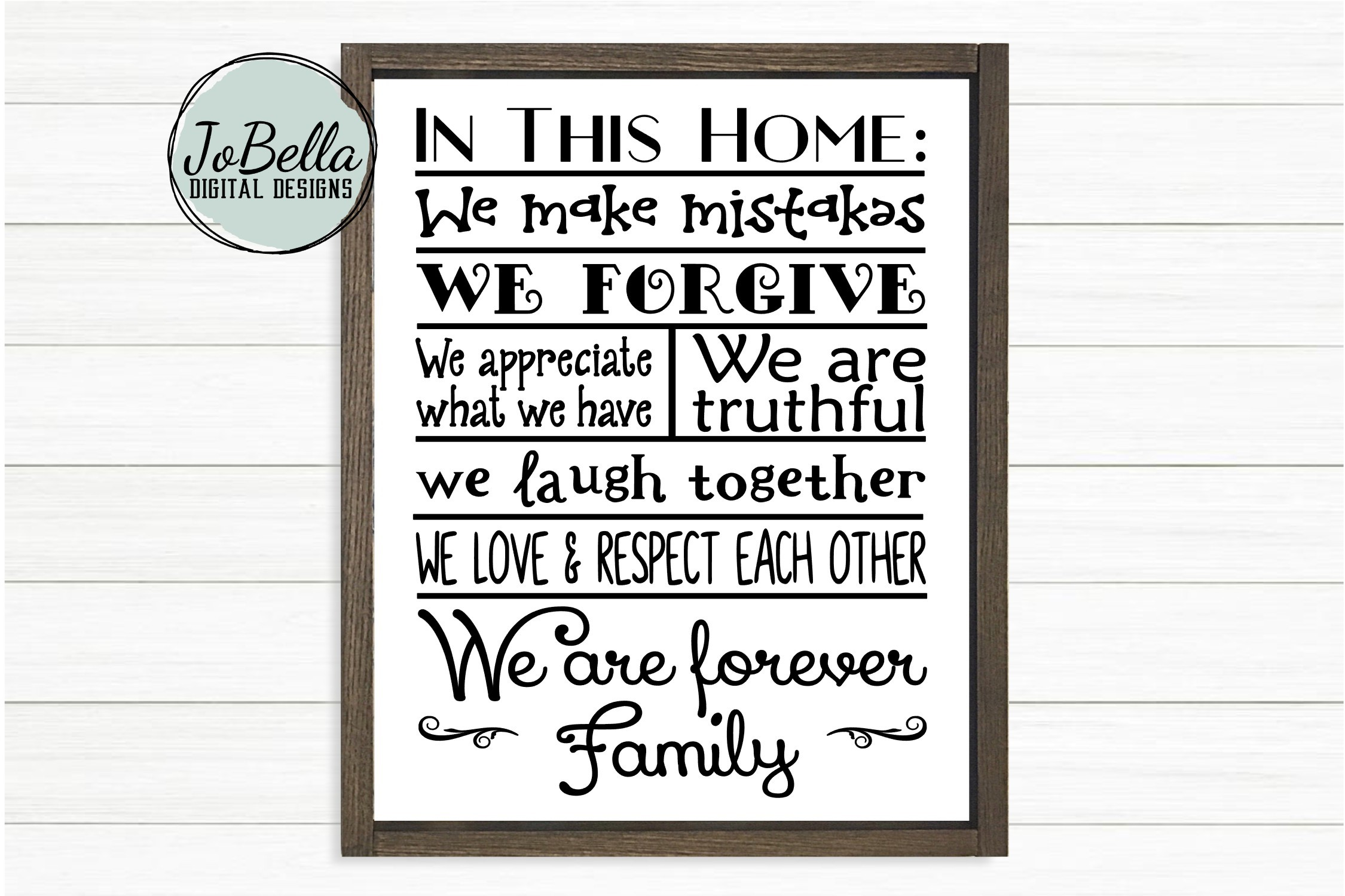 House Rules SVG and Printable Farmhouse Design example image 1