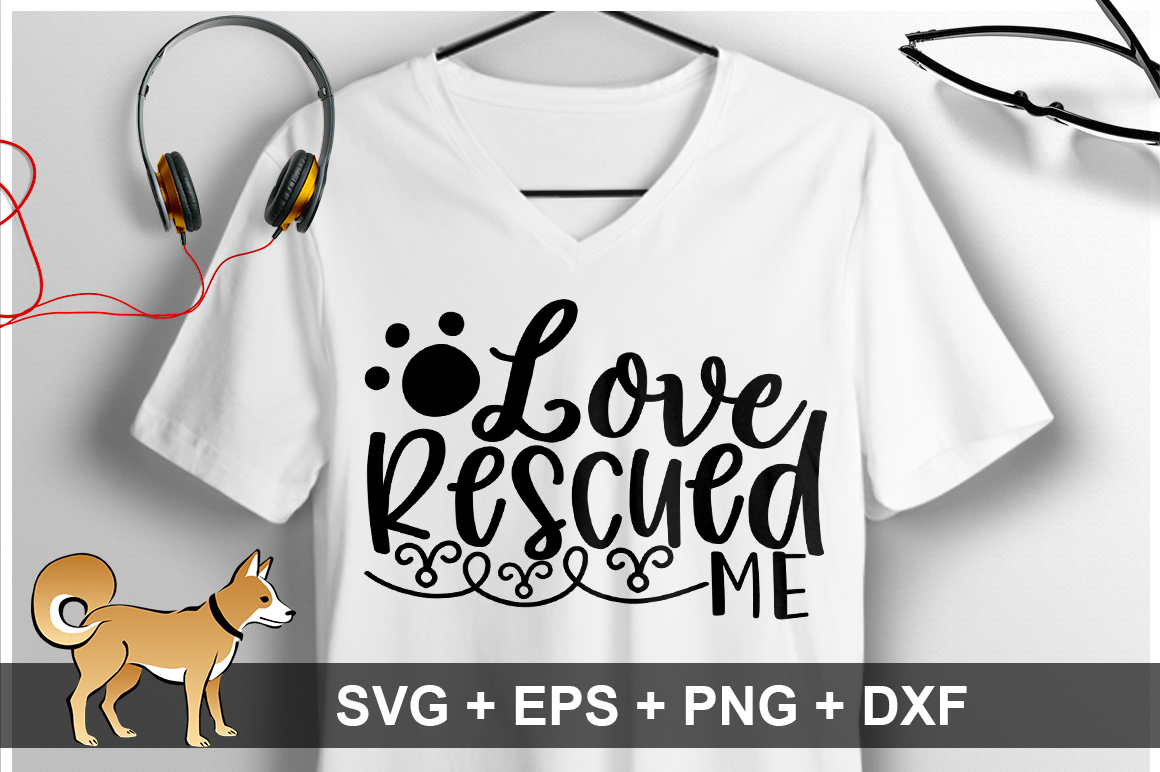Love Rescued Me SVG Design example image 1