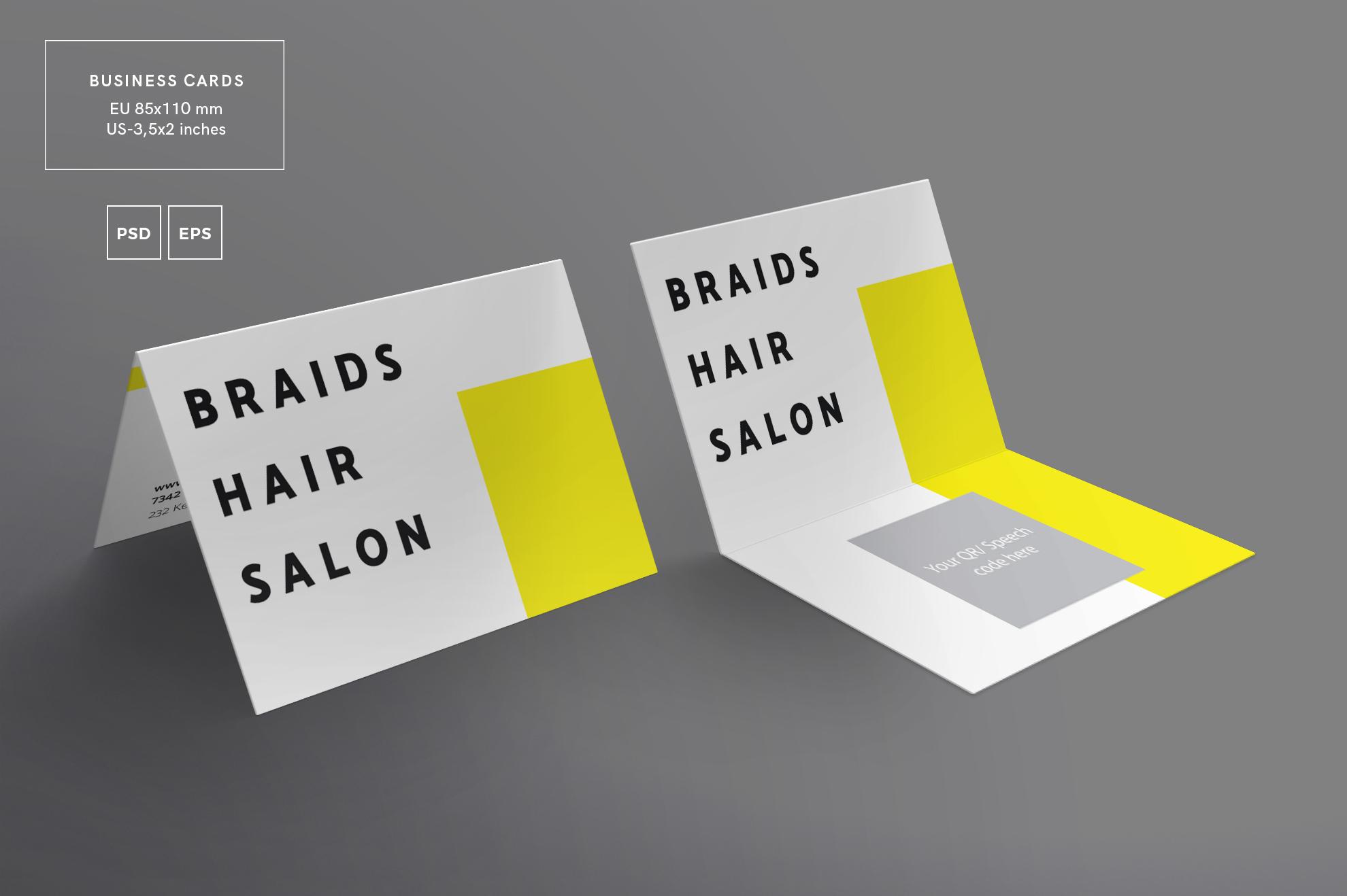 Hair Salon Barbershop Design Templates Bundle example image 3