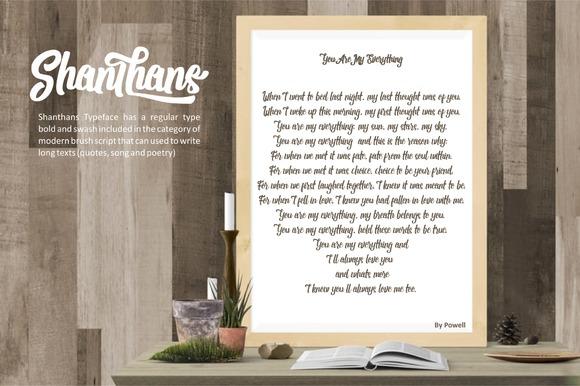 Shanthans Typeface example image 5