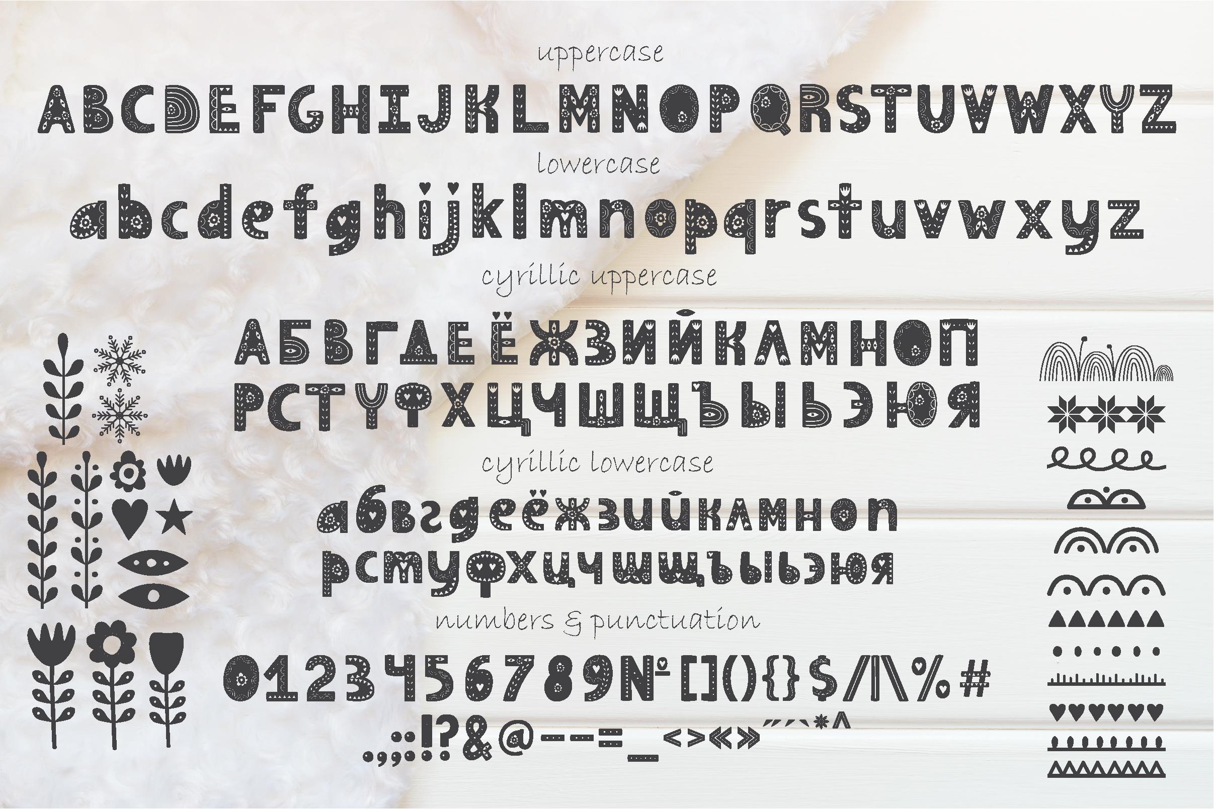 Hygge Scandinavian font example image 2