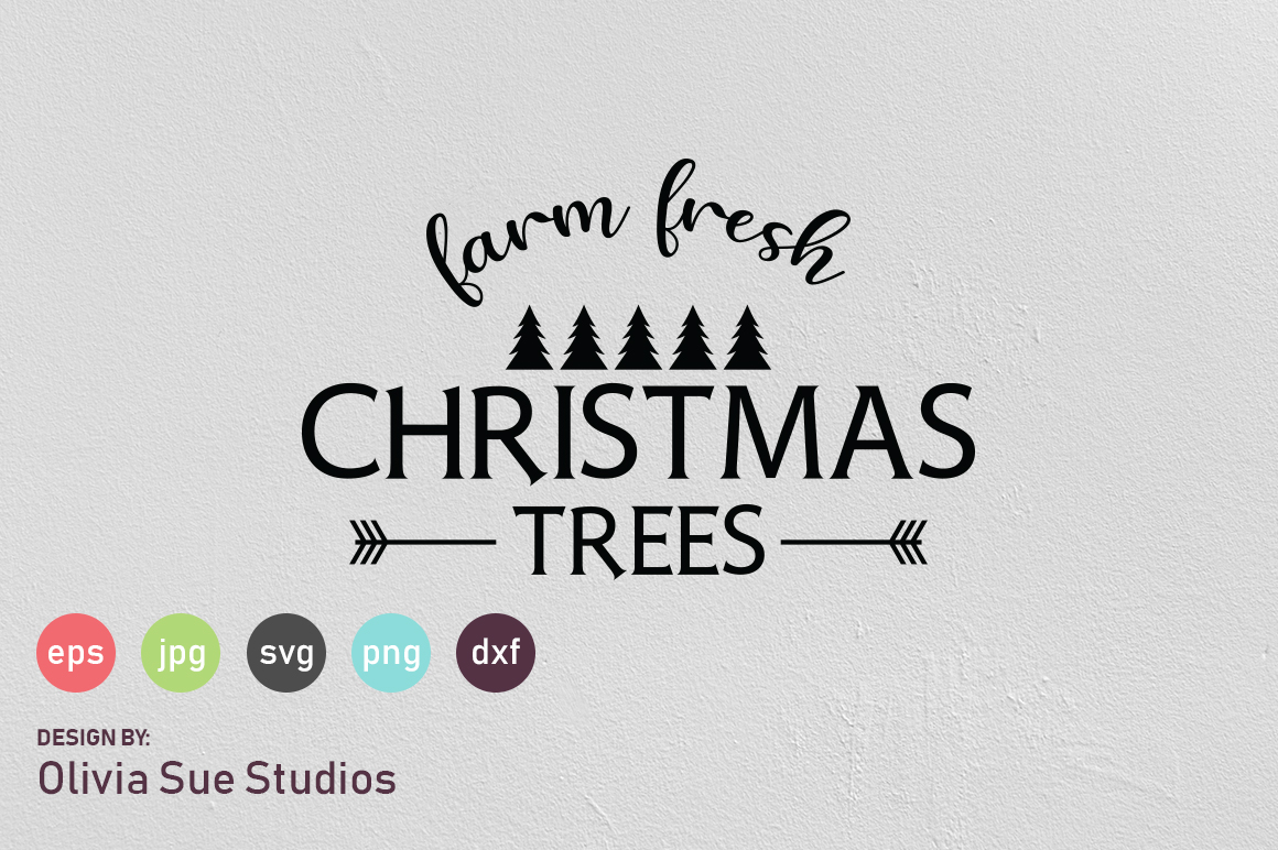 Farm Fresh Christmas Trees SVG Cut File example image 1