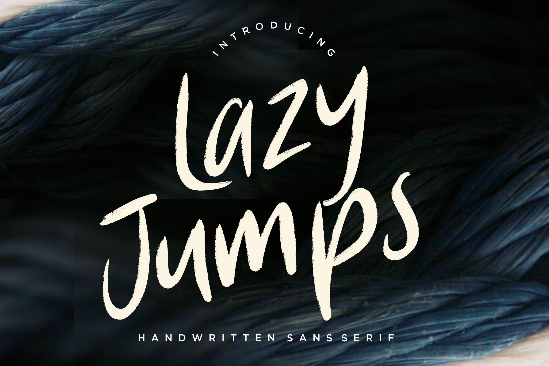 Lazy Jumps Sans Serif example image 1