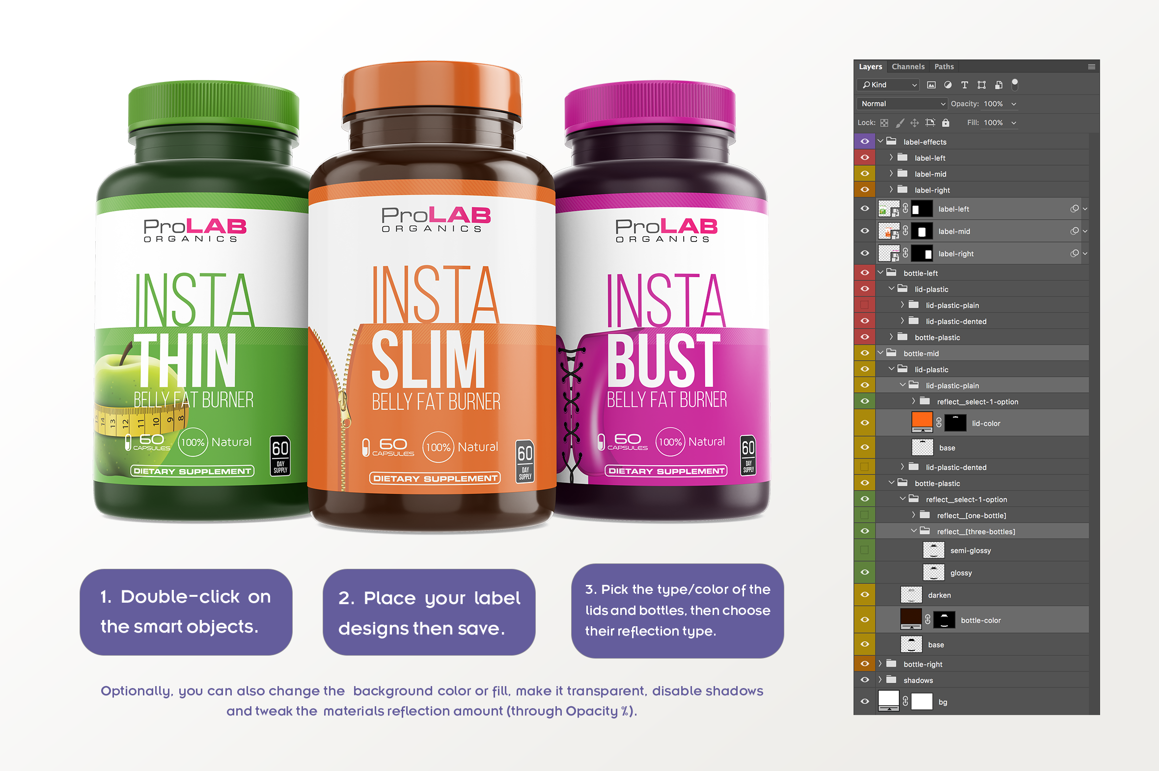 Dietary Supplement Mockup v. 1B example image 7
