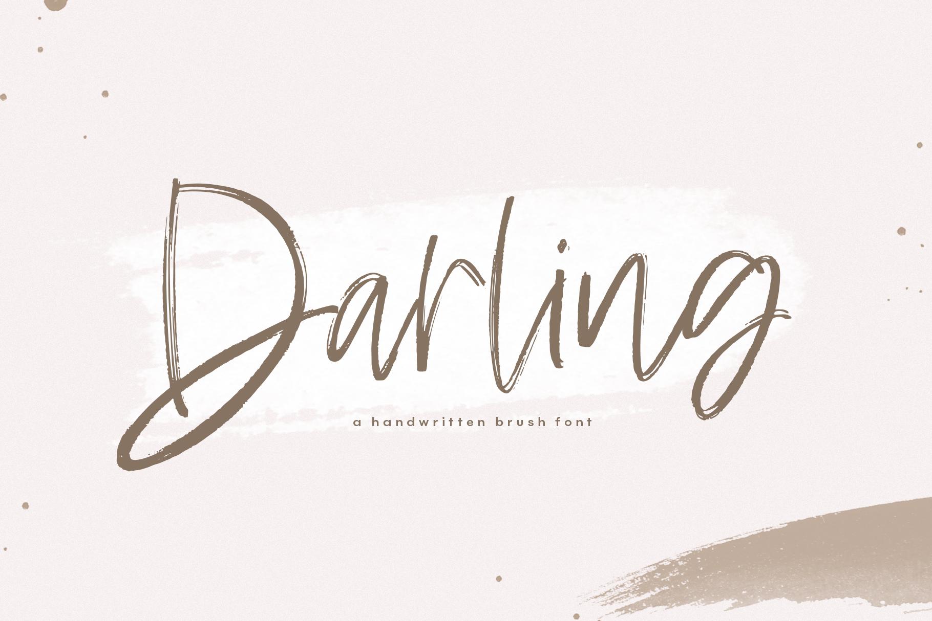 Darling - A Handwritten Brush Script Font example image 1
