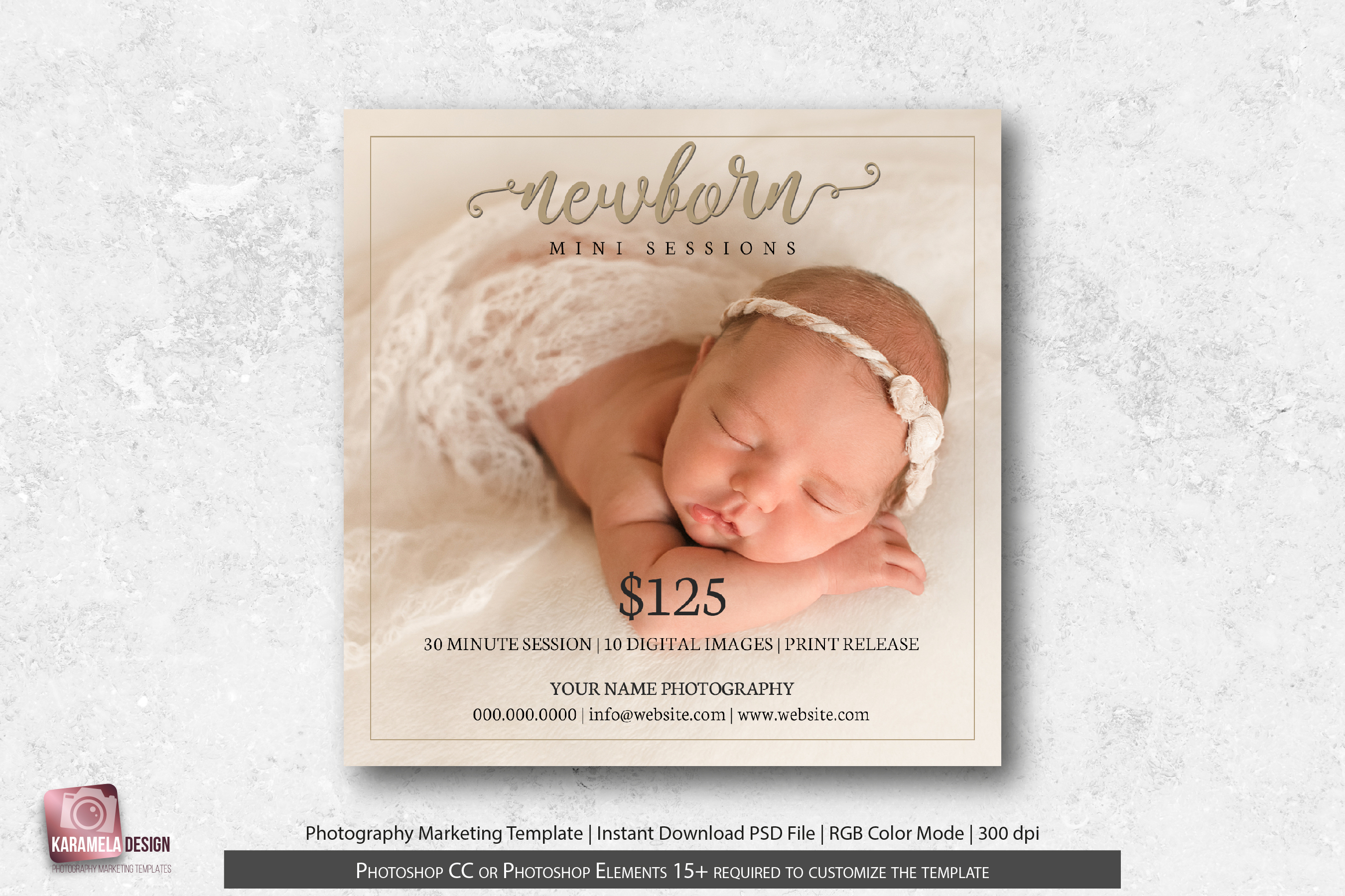 Newborn Mini Sessions Template example image 1