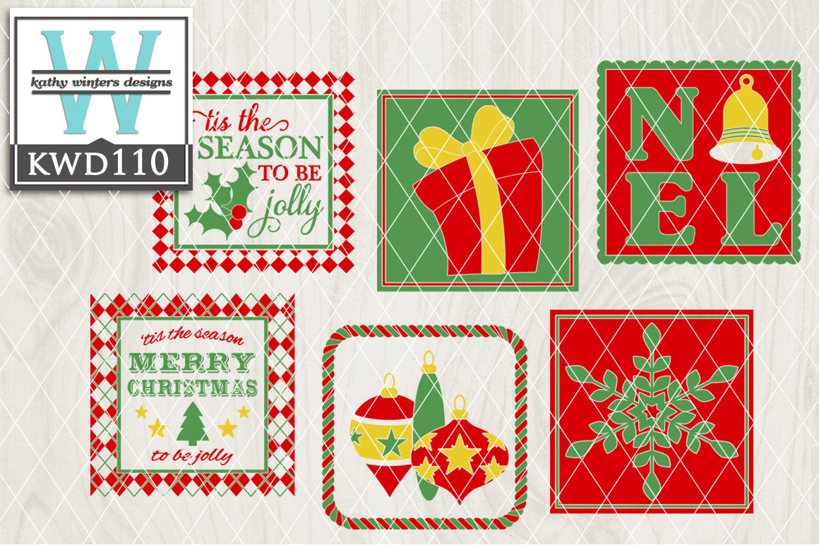 Christmas Cutting Files KWD110 example image 1