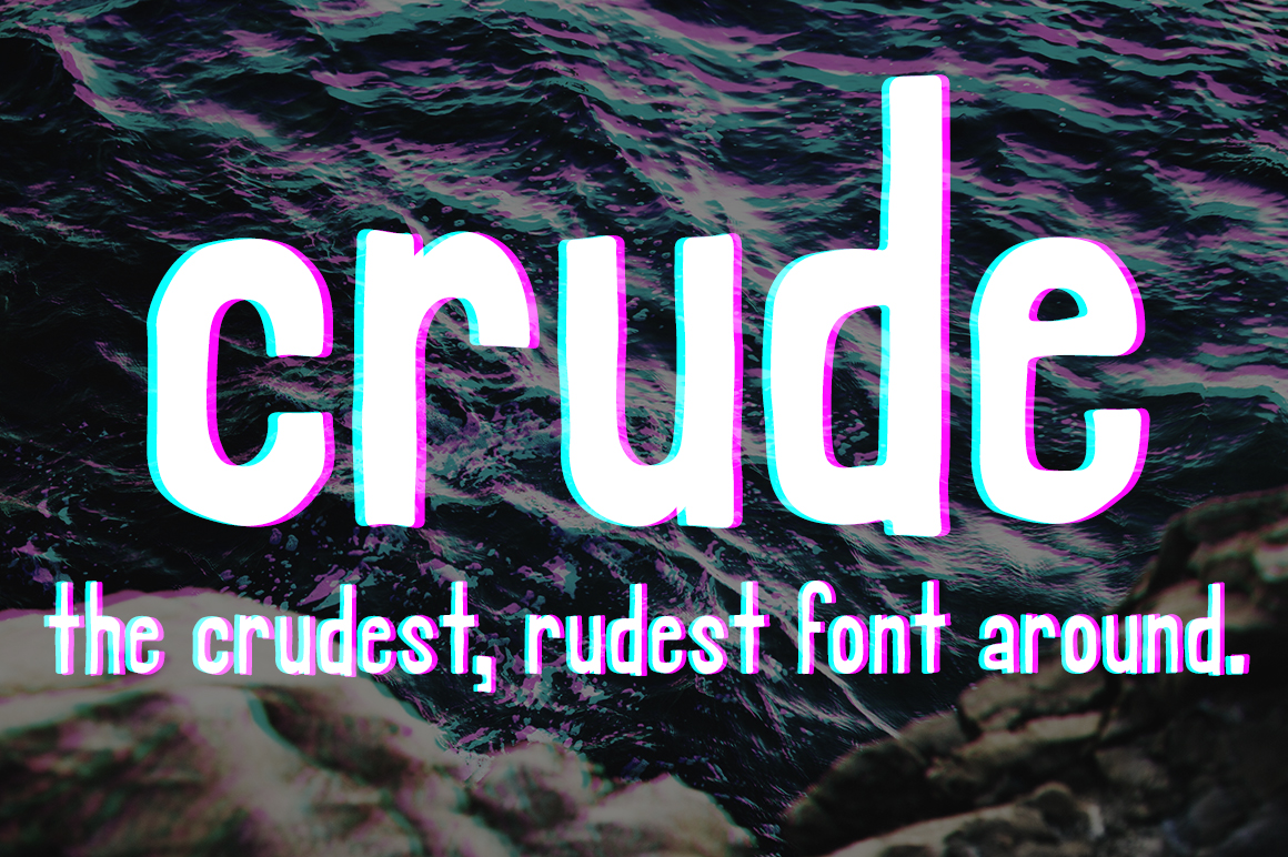 Crude - A Rough Hand Font example image 1