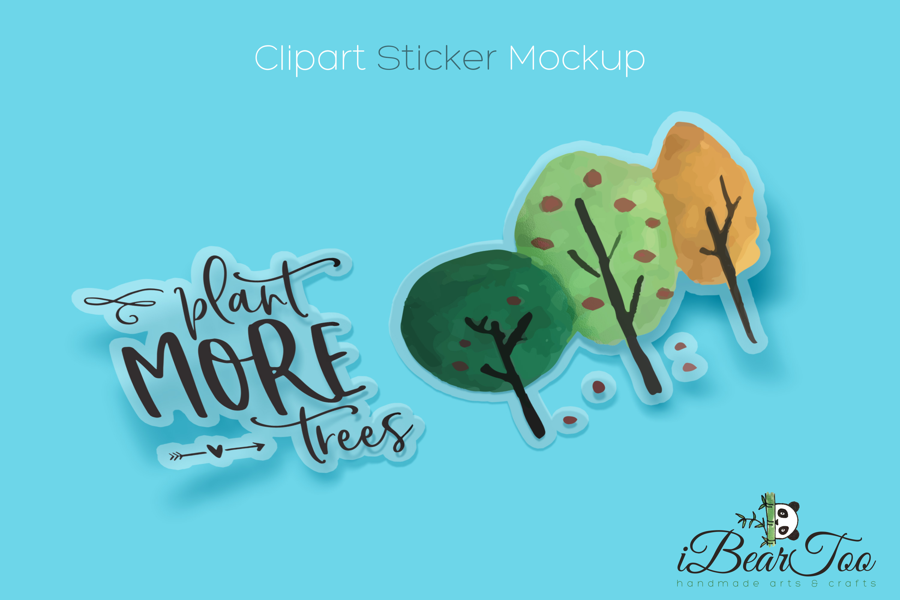 Plant More Trees SVG Clipart Watercolor, Vector Sketch example image 8
