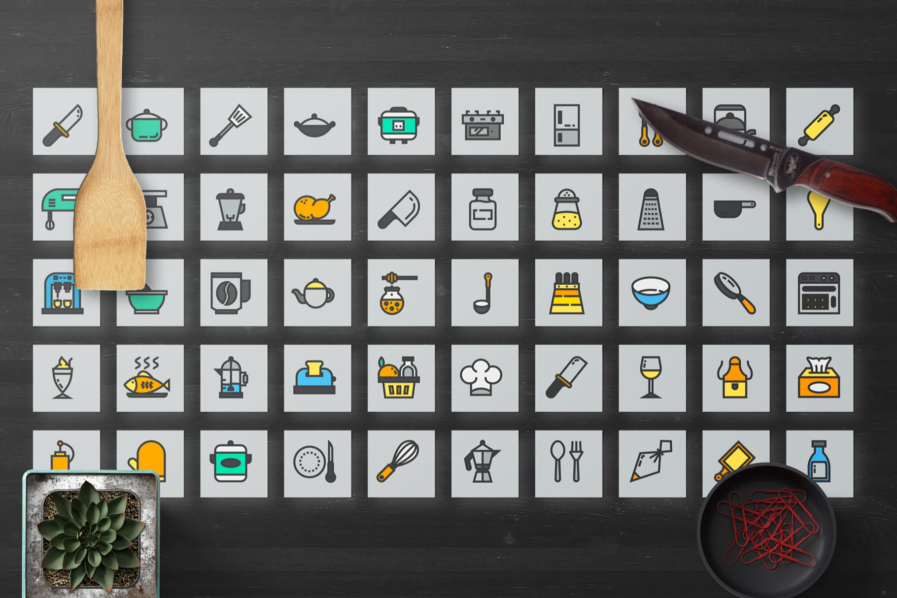 200 Kitchen Icon Pack example image 5