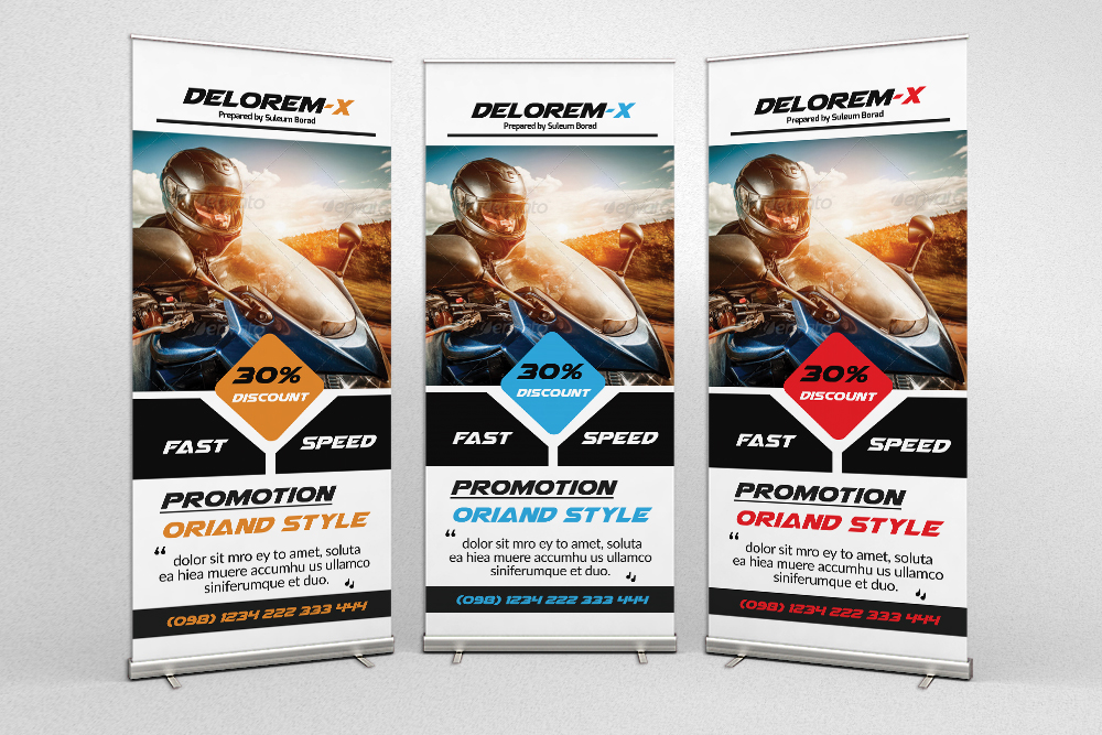 Motorbike Promotion Roll Up Banners example image 1