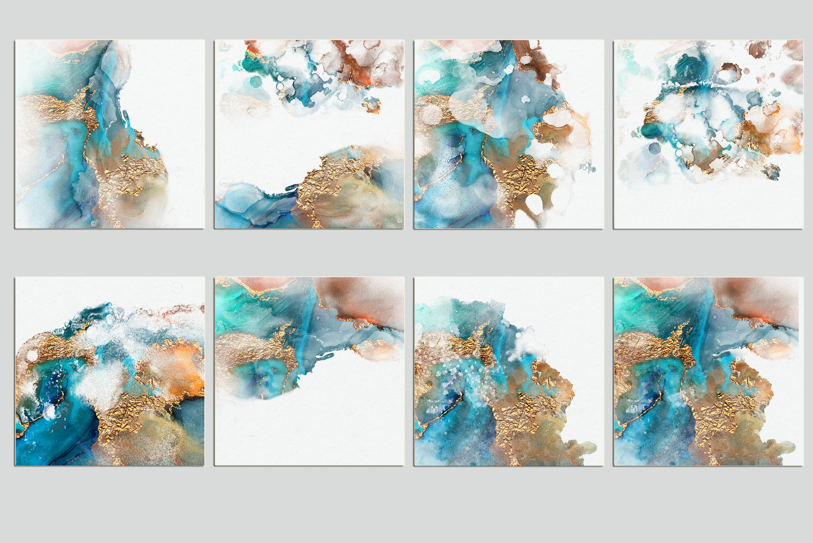 Watercolor PNG Gold Textures example image 3