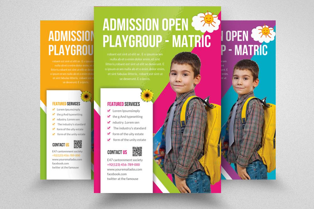 6 Kids School Education Flyers Bundle example image 3