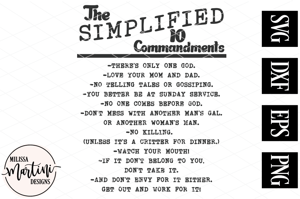 Simplified 10 Commandments example image 3