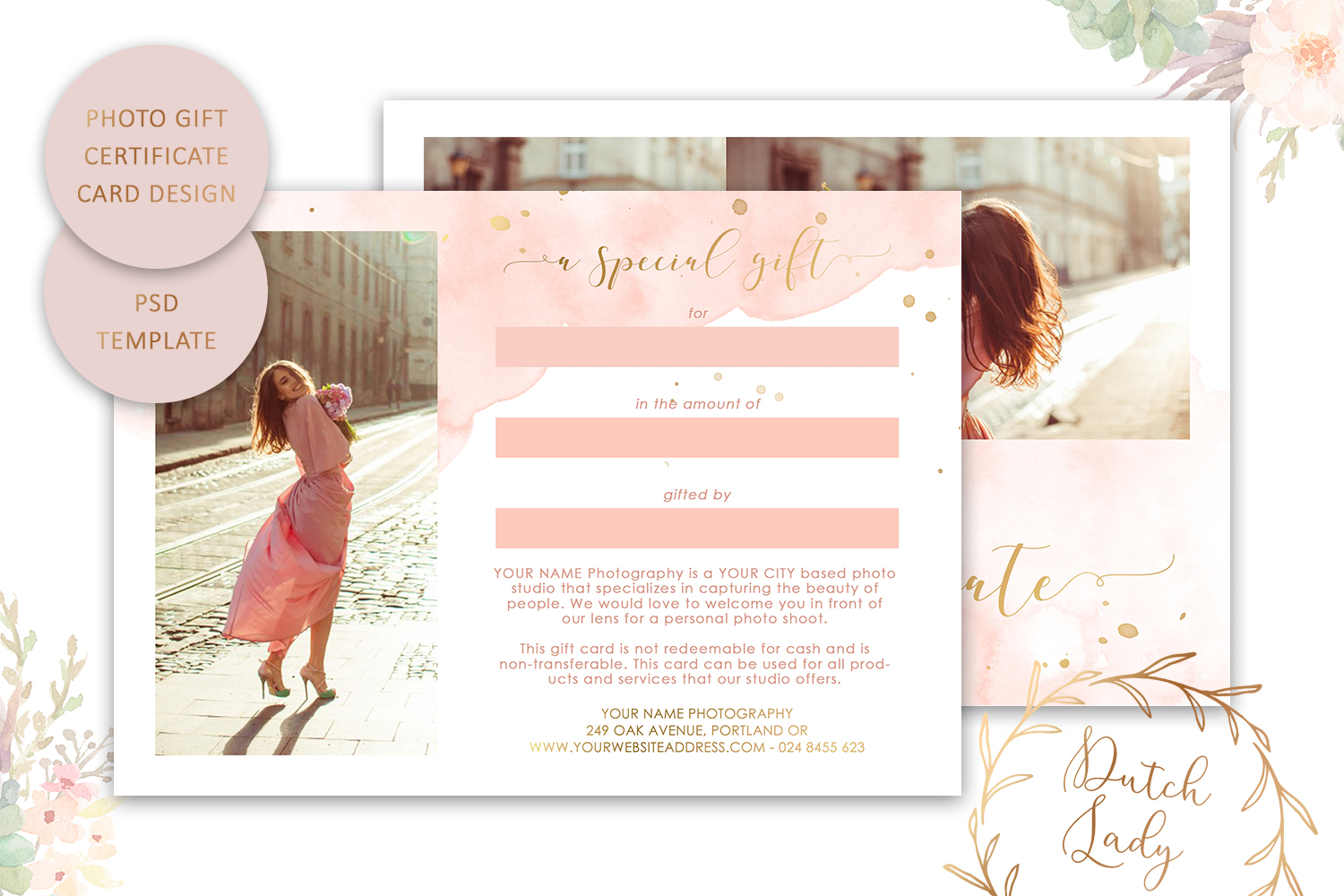Photo Gift Card Template for Adobe Photoshop - #43 example image 2