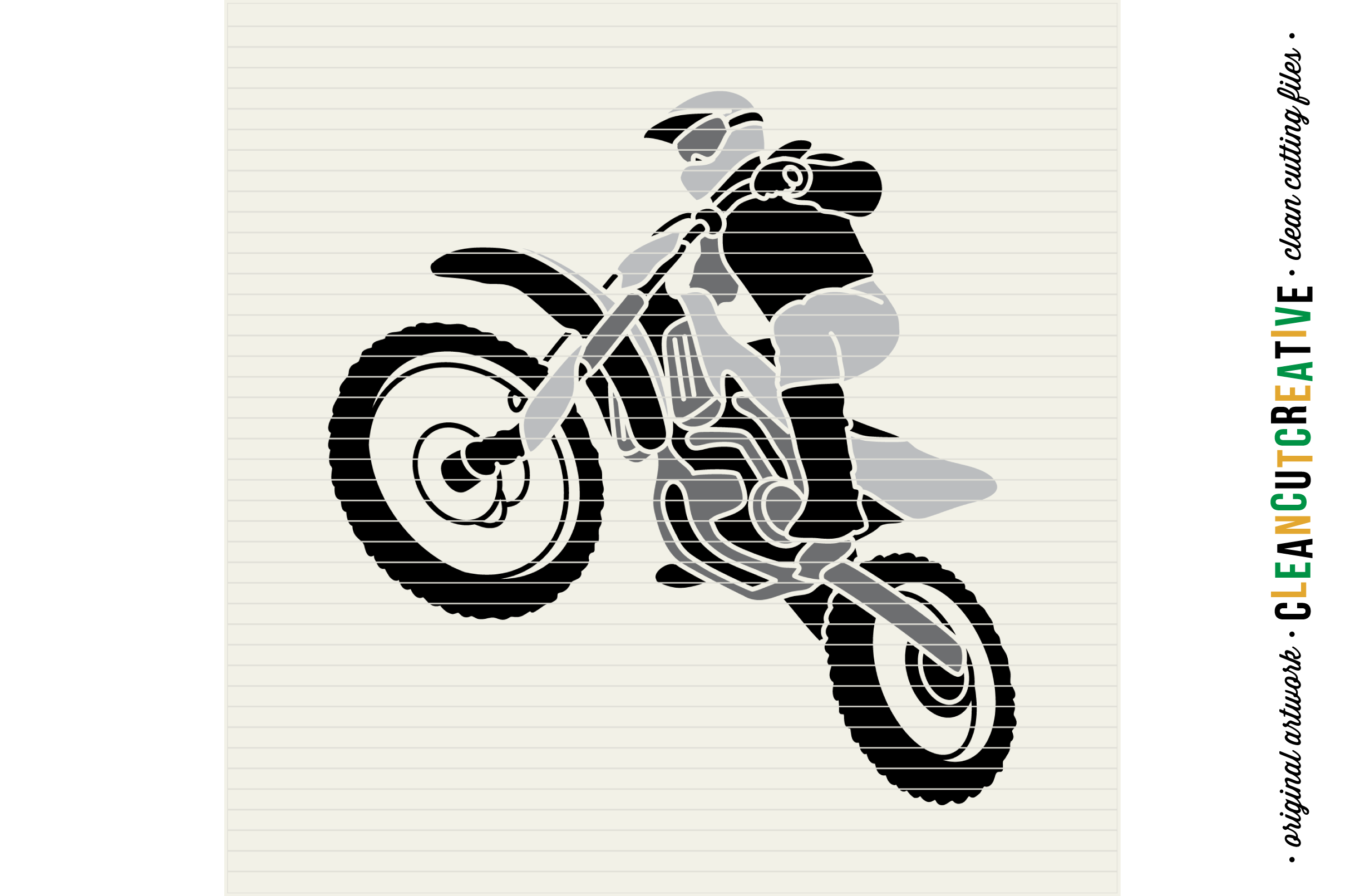 Young Wild and BRAAAP! Boys design for Motocross Dirt Bike Lovers! - SVG DXF EPS PNG - Cricut & Silhouette  example image 4
