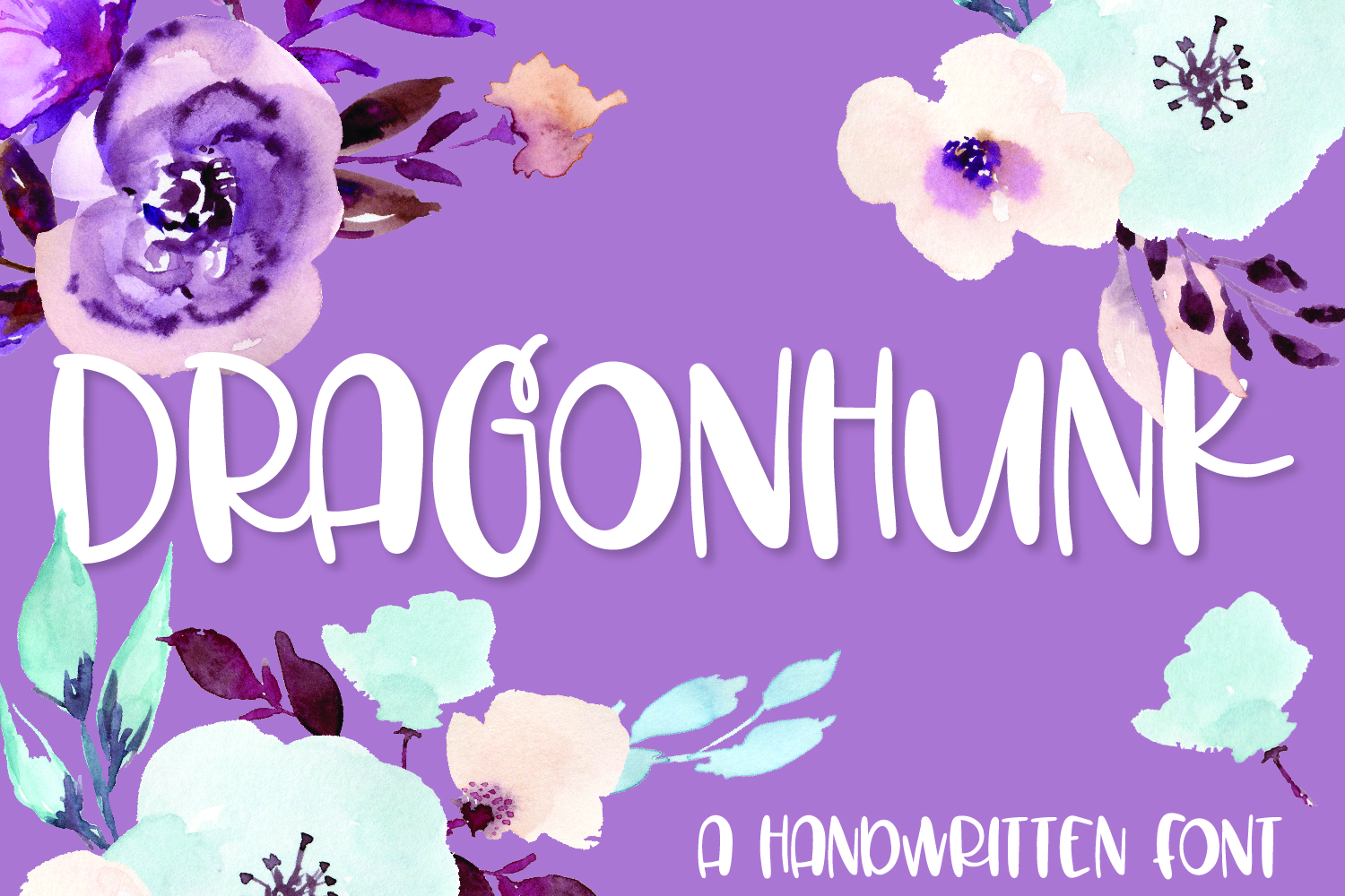 Dragonhunk - A Handwritten Font example image 1