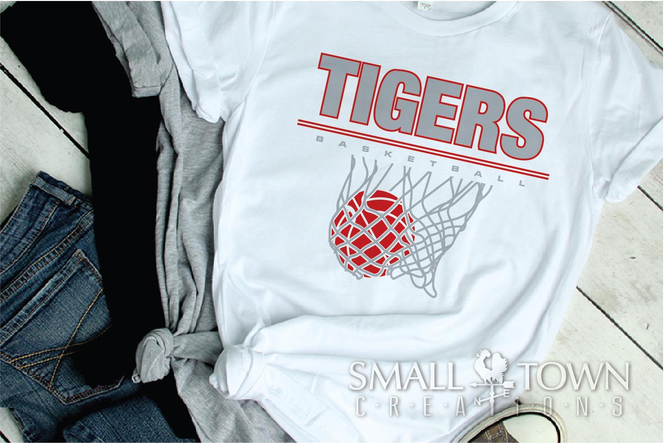 Tigers basketball, tiger mascot, team, PRINT, CUT, DESIGN example image 28