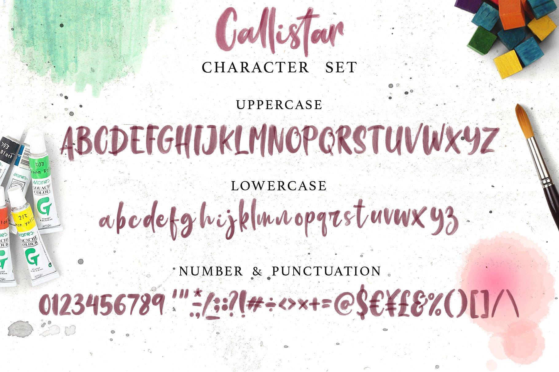 Callistar SVG & Regular Font example image 8