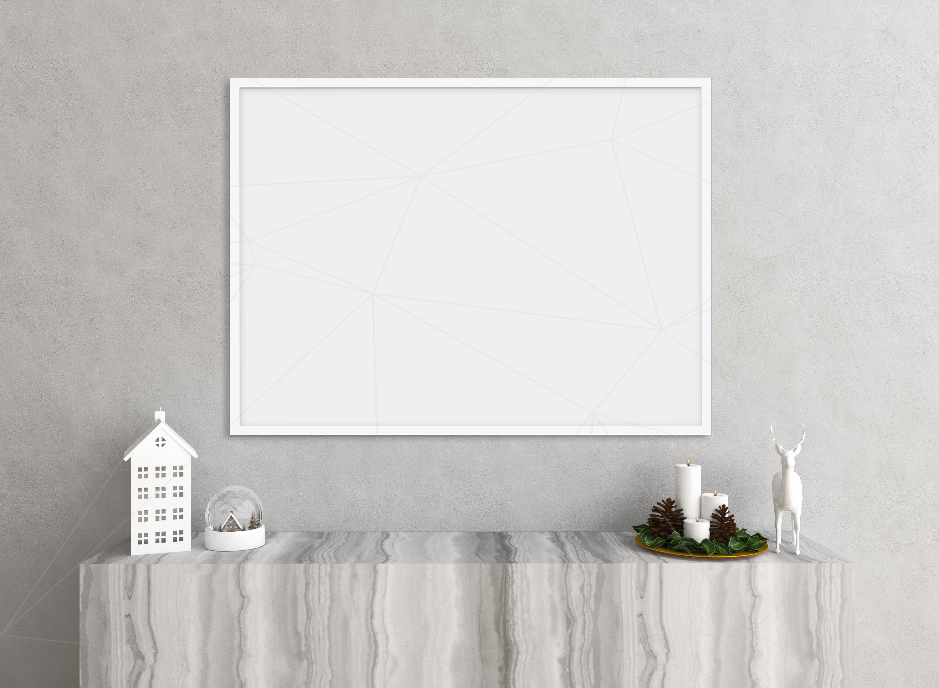 Christmas interior mockup bundle - blank wall mock up example image 4