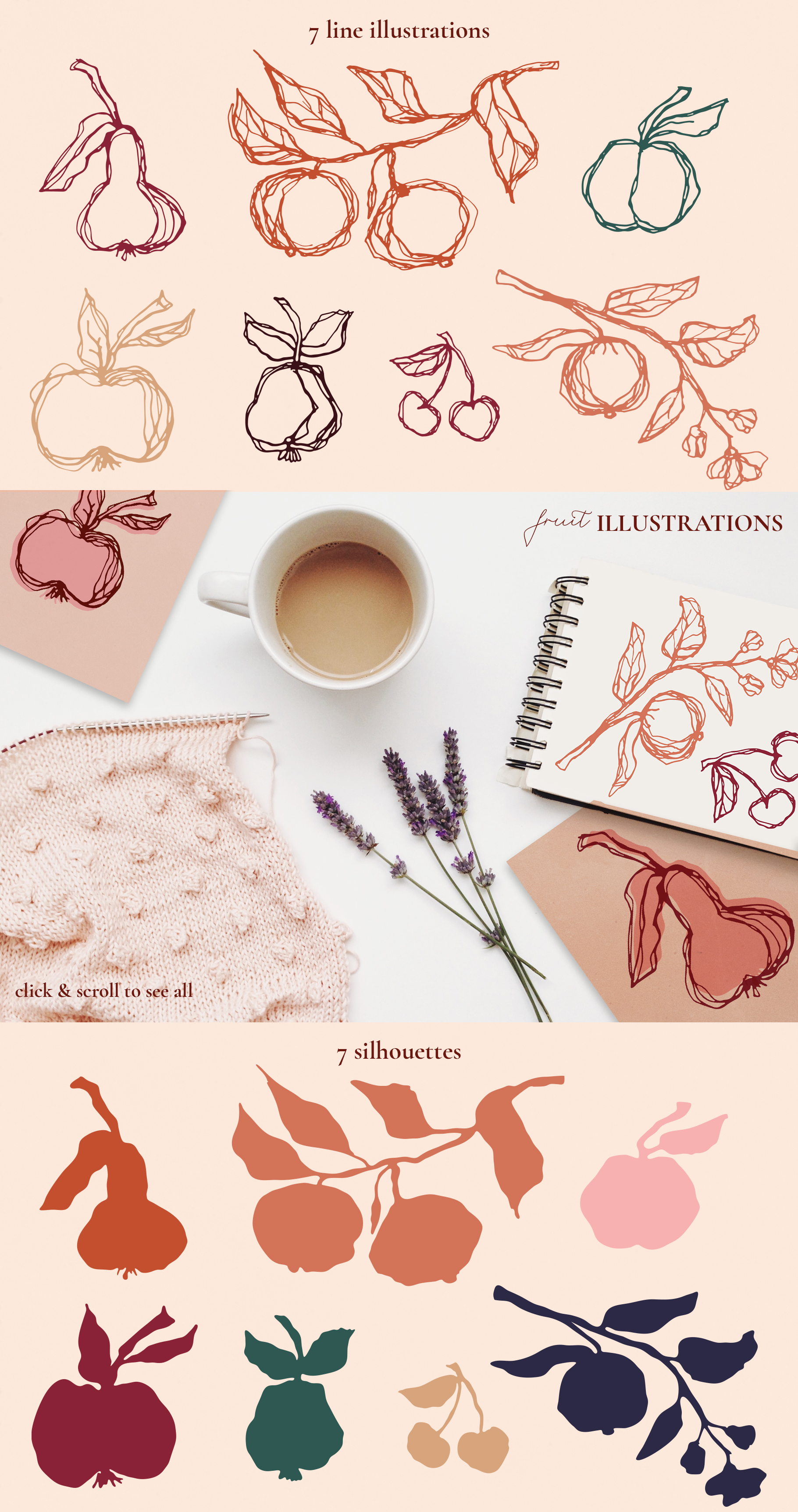 Abstract Line Art Design Kit example image 11