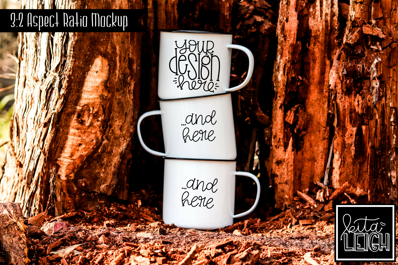 Three Stack White Campfire Mug Mockup Bundle example image 5