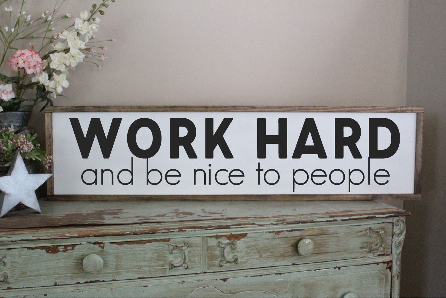 Work Hard And Be Nice To People SVG Sublimation, Work Hard example image 2