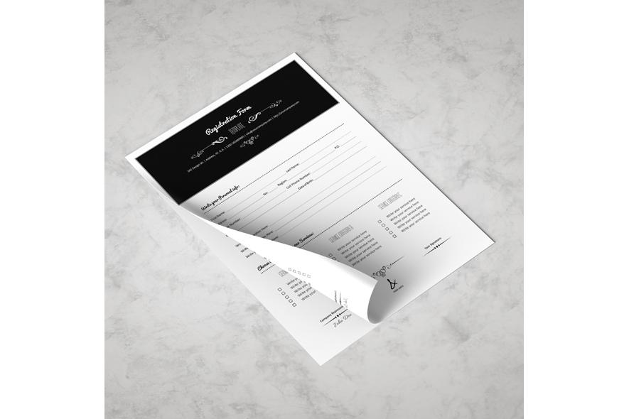 Registration Form Template v4 example image 4