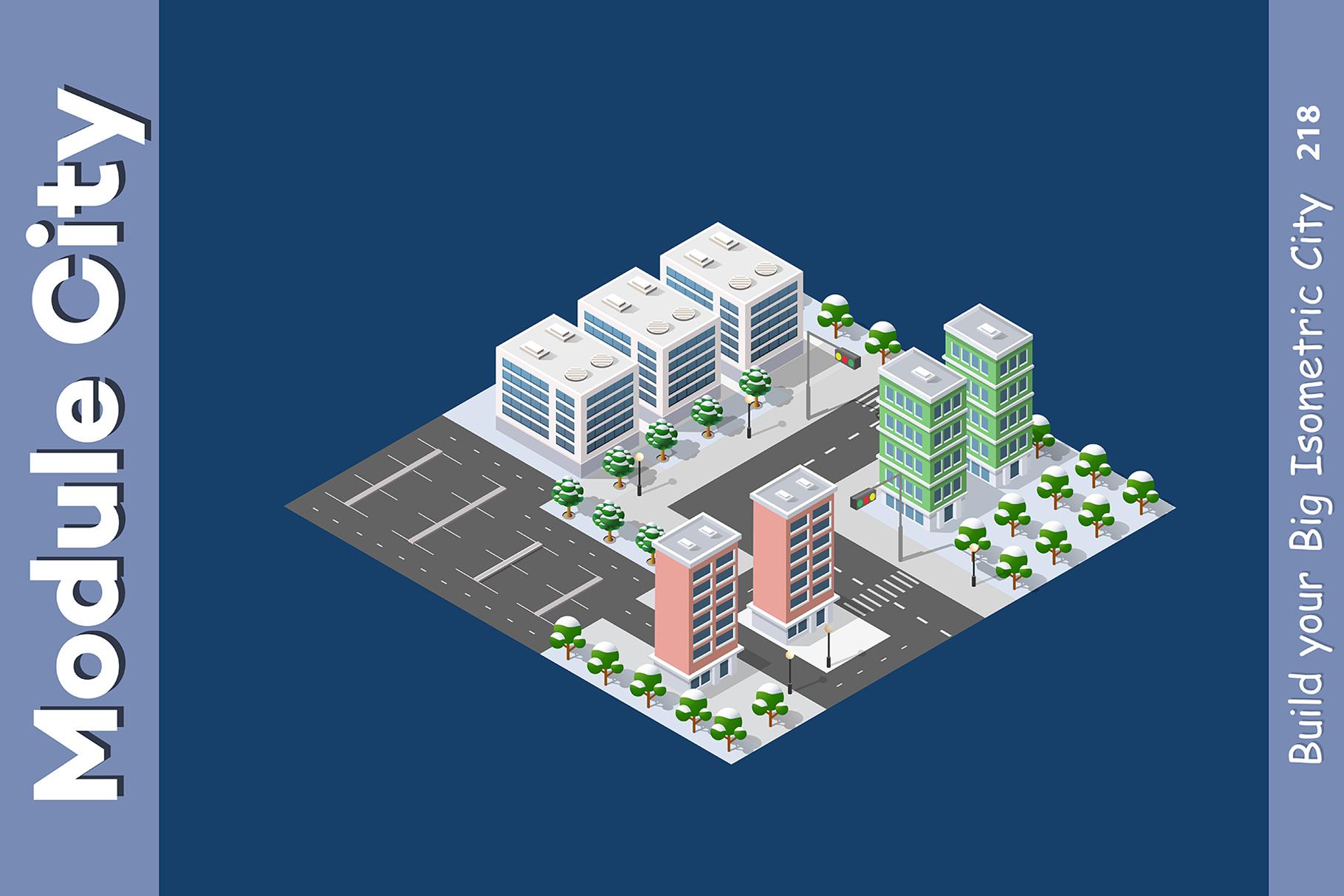 Isometric set module city example image 5