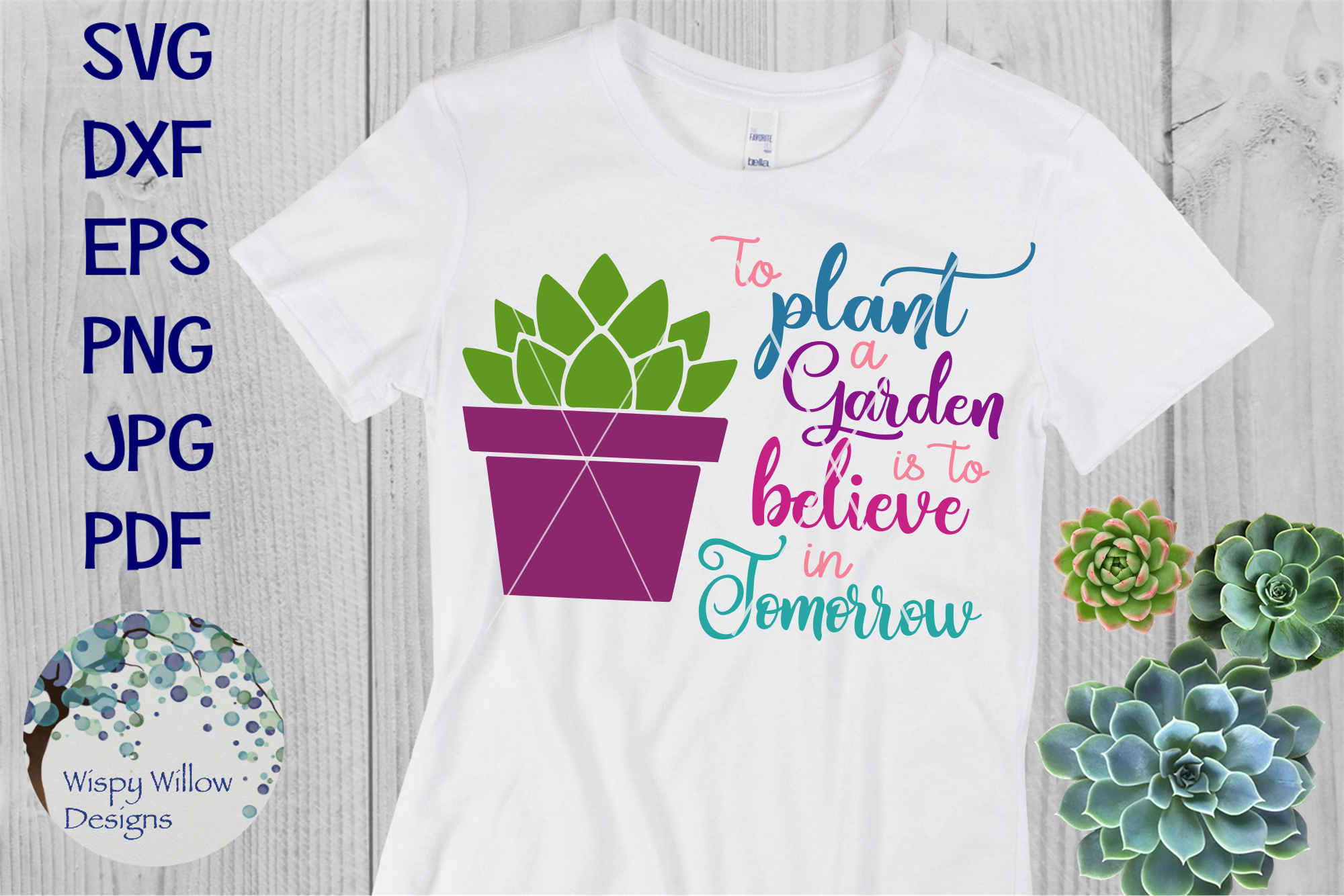 To Plant A Garden Is To Believe In Tomorrow | Inspiring SVG example image 2