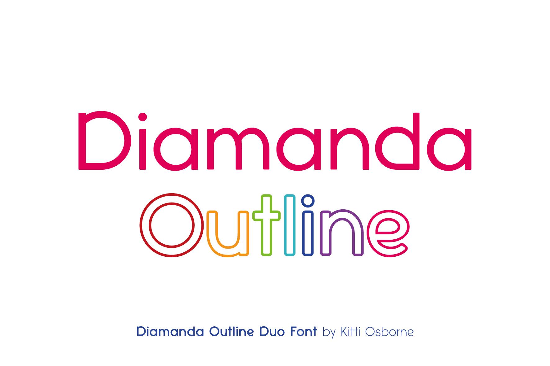 Diamanda Oulines Duo Font example image 3