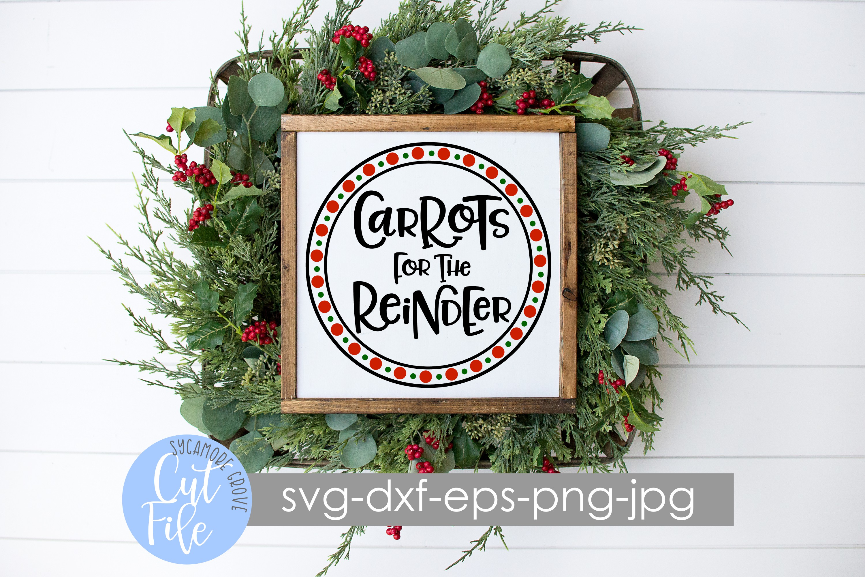 Carrots for the Reindeer | Christmas SVG example image 2