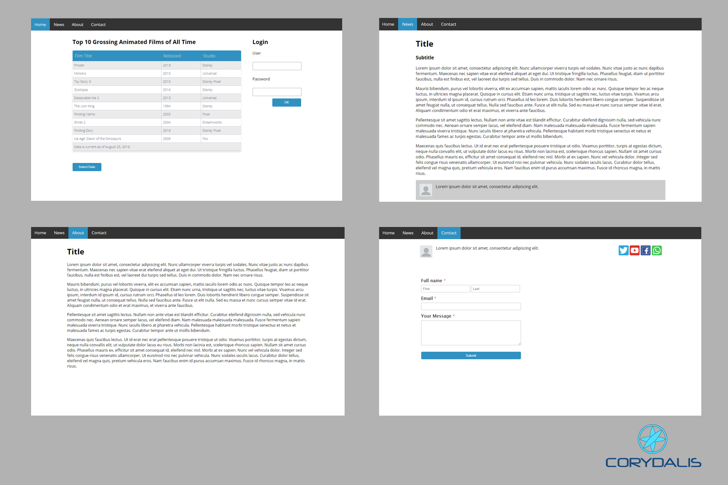 Easy UI HTML Template example image 1