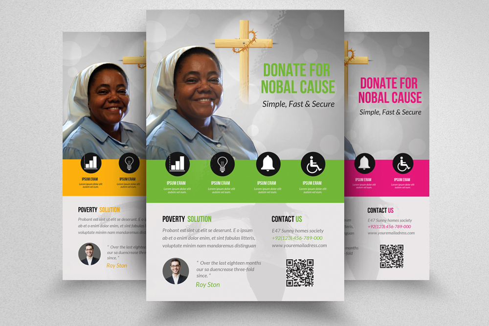 6 Charity & Donation Flyers Bundle example image 4