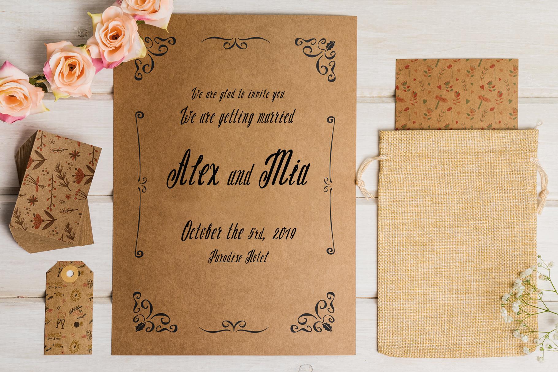 Milissa story script font example image 6