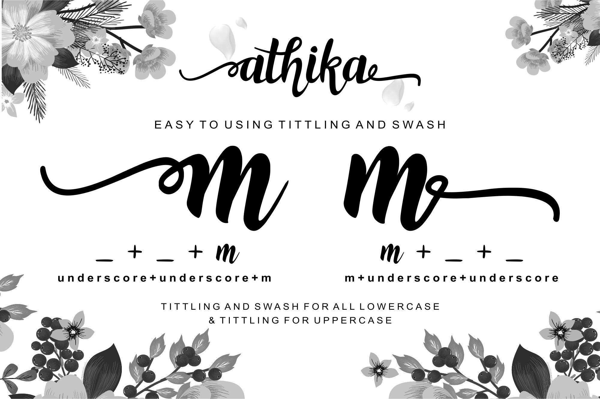 Athika Lovely Font example image 3