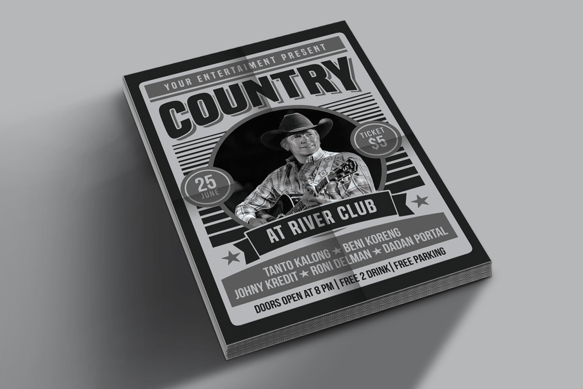 Country Music Poster Flyer example image 3